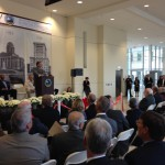 County Commissioner David Gantt addresses the crowd at Judicial Complex opening 11-7-2013