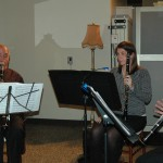 Attorney Anne Salter plays with her husband and friends as a member of the Asheville Clarinet Quartet.