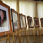 Portraits of retired judges and clerks, presented by the Bar for hanging in the new Buncombe County Judicial Complex.